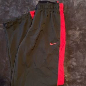 Nike men's red and black pants